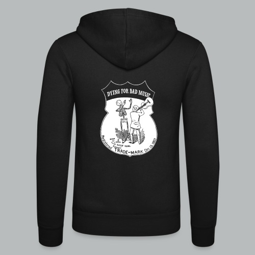 Dying For Bad Music White - Unisex Hooded Jacket by Bella + Canvas