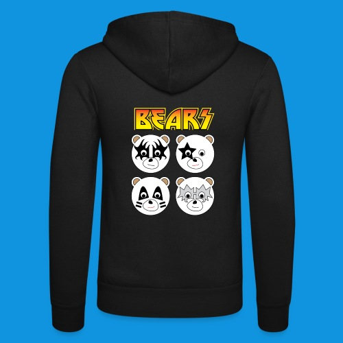 Kiss Bears square.png - Unisex Hooded Jacket by Bella + Canvas