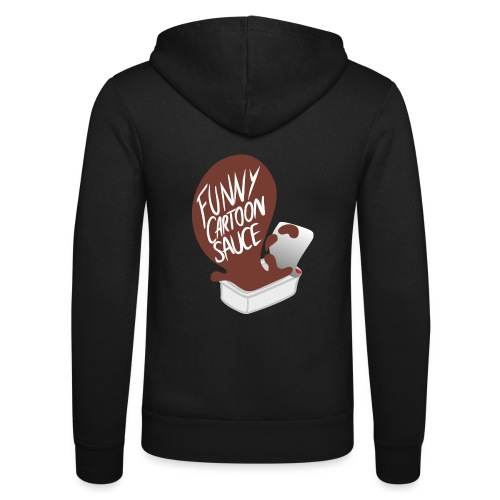 FUNNY CARTOON SAUCE - FEMALE - Unisex Hooded Jacket by Bella + Canvas