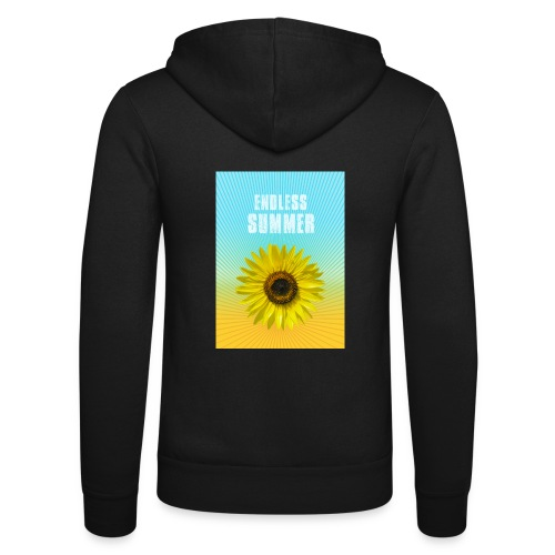 sunflower endless summer Sonnenblume Sommer - Unisex Hooded Jacket by Bella + Canvas
