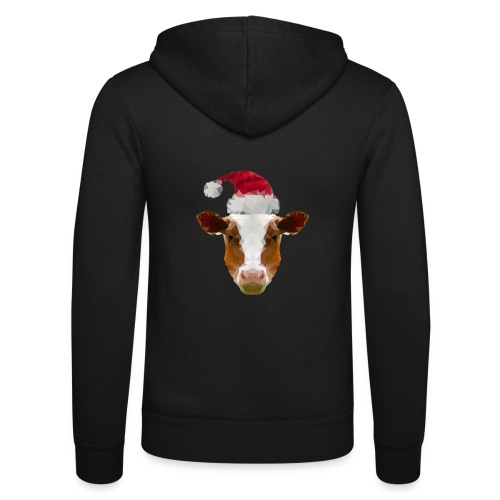 Low-Poly Christmas Cow - Unisex hoodie van Bella + Canvas