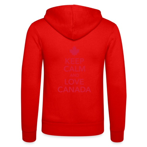 keep calm and love Canada Maple Leaf Kanada - Unisex Hooded Jacket by Bella + Canvas