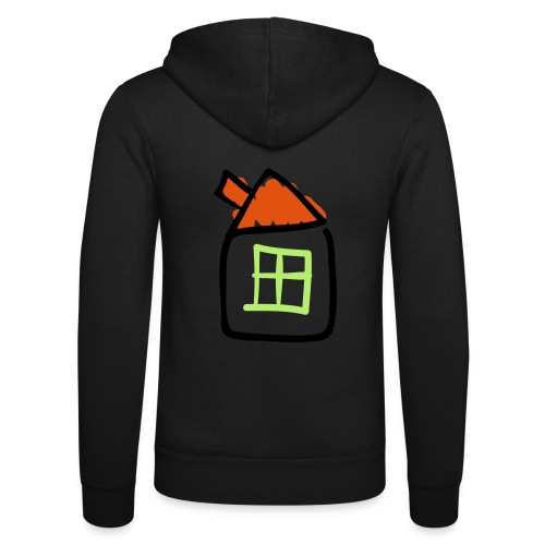 House Line Drawing Pixellamb - Unisex Kapuzenjacke von Bella + Canvas