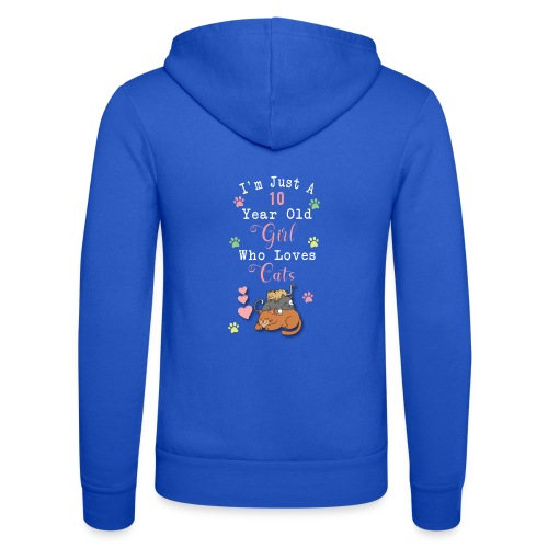 I'm just a 10 year old girl who loves cats - Veste à capuche unisexe Bella + Canvas