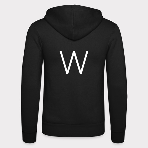 White W - Unisex Hooded Jacket by Bella + Canvas