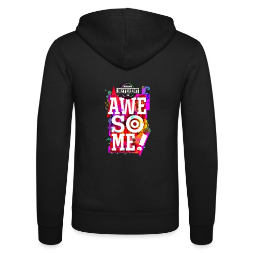 Different = Awesome - Unisex Hooded Jacket by Bella + Canvas