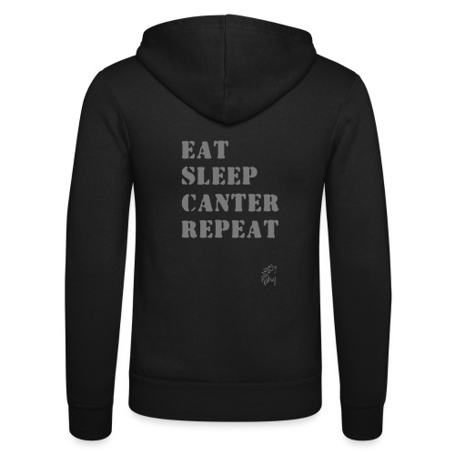 Eat Sleep Canter Repeat - Pferd Reiten VECTOR - Unisex Kapuzenjacke von Bella + Canvas