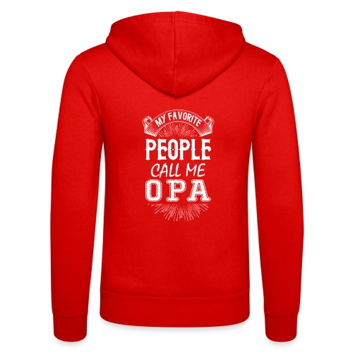 My Favorite People Call Me Opa - Unisex Hooded Jacket by Bella + Canvas