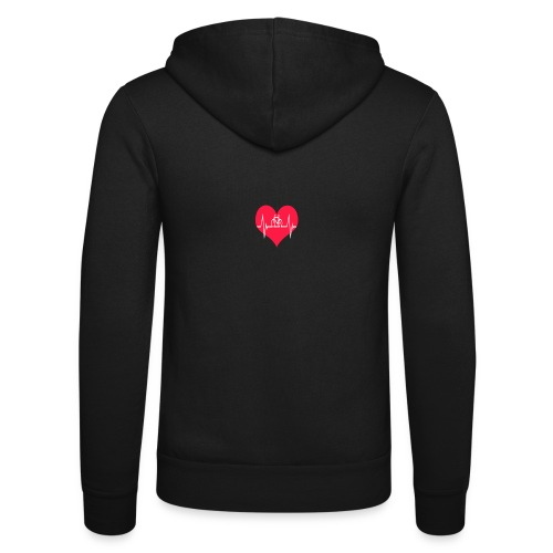 I love my Bike - Unisex Hooded Jacket by Bella + Canvas