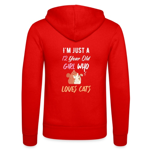 I'm just a 12 year old girl who loves cats - Veste à capuche unisexe Bella + Canvas