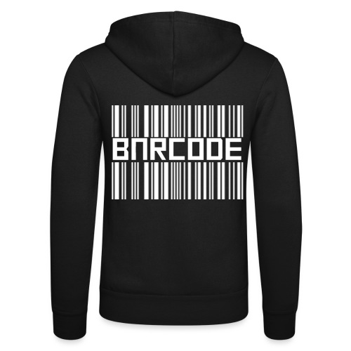 BARCODE BLACK - Unisex Hooded Jacket by Bella + Canvas