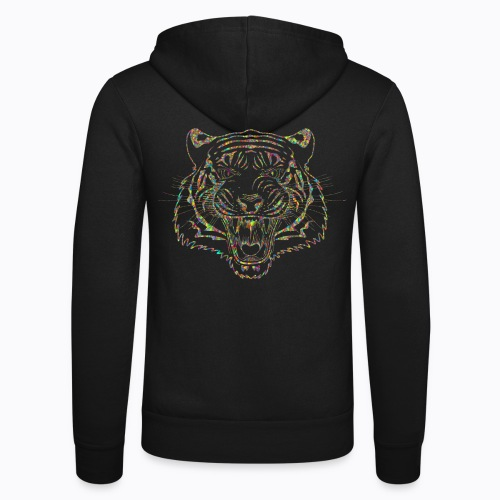 tiger colors - Unisex Hooded Jacket by Bella + Canvas