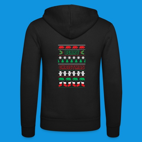 Beary Christmas.png - Unisex Hooded Jacket by Bella + Canvas