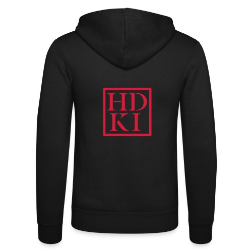 HDKI logo - Unisex Hooded Jacket by Bella + Canvas