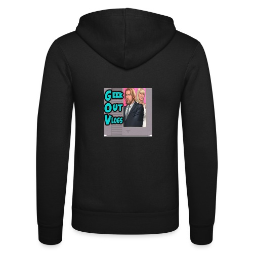 GeekOut Vlogs NES logo - Unisex Hooded Jacket by Bella + Canvas