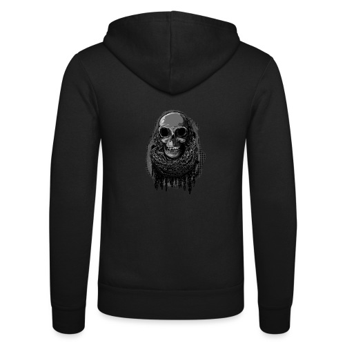 Skull in Chains - Unisex Hooded Jacket by Bella + Canvas