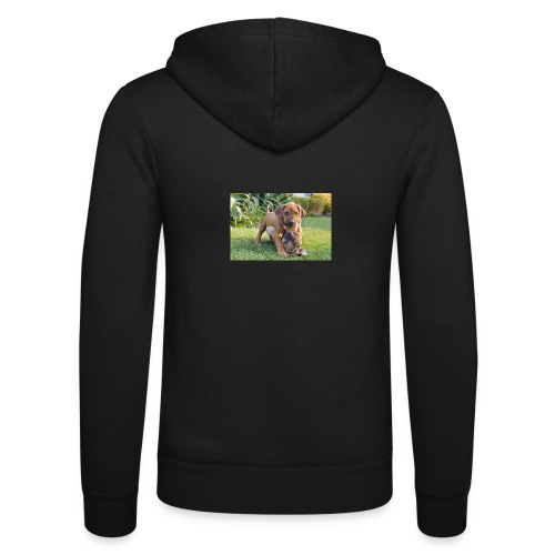 adorable puppies - Unisex Hooded Jacket by Bella + Canvas