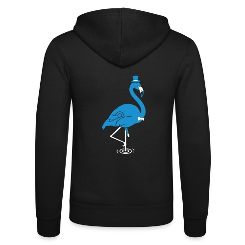Sir Flamingo - Unisex Hooded Jacket by Bella + Canvas