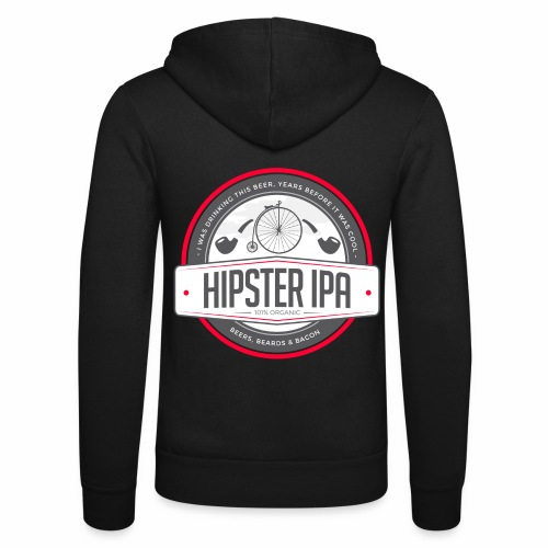 Hipster IPA - Unisex Hooded Jacket by Bella + Canvas