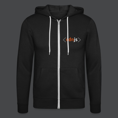 cdnjs Subtle Logo (Zip-Up Hoodies) - Unisex Hooded Jacket by Bella + Canvas