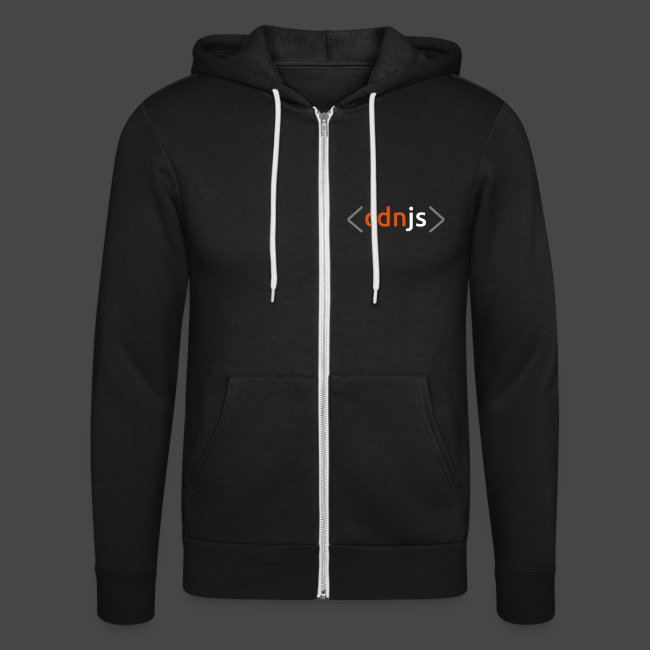 cdnjs Subtle Logo (Zip-Up Hoodies)