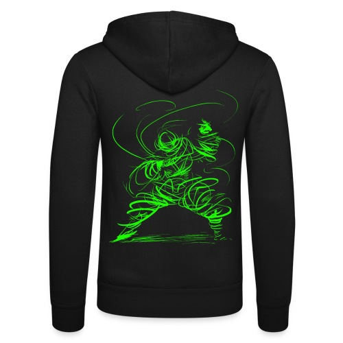 Kung Fu Sorcerer / Kung Fu Wizard - Unisex Hooded Jacket by Bella + Canvas