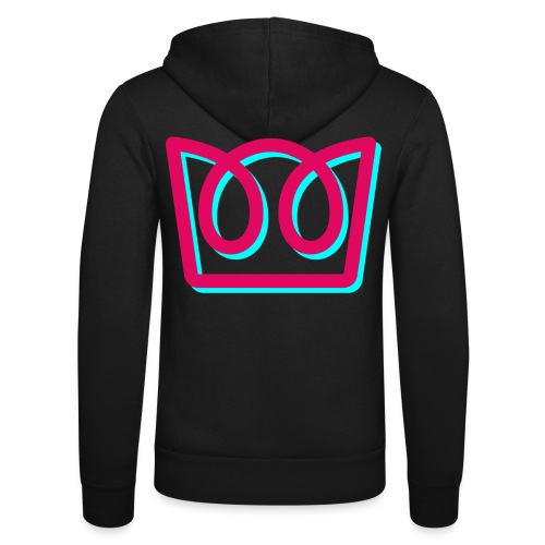 Neon Crown - Unisex Hooded Jacket by Bella + Canvas