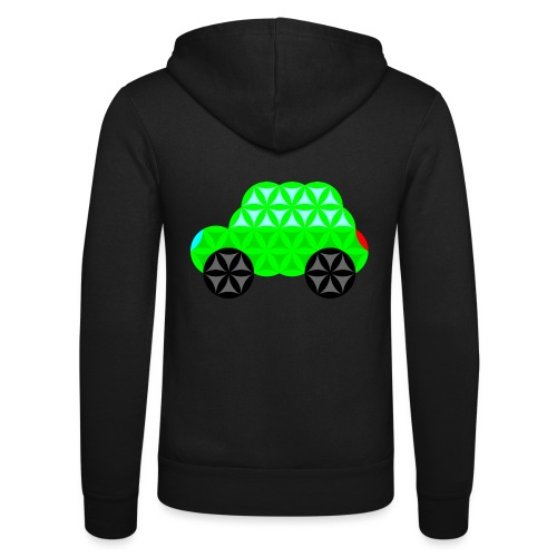 The Car Of Life - M01, Sacred Shapes, Green/R01. - Unisex Hooded Jacket by Bella + Canvas