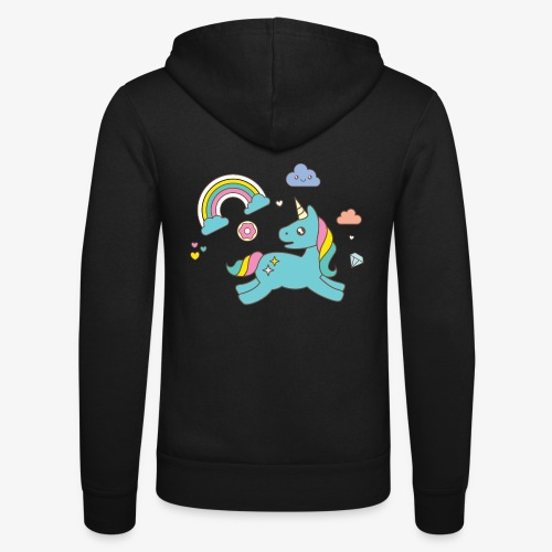 colored unicorn - Unisex Hooded Jacket by Bella + Canvas
