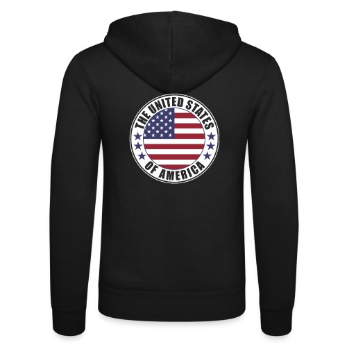 The United States of America - USA flag emblem - Unisex Hooded Jacket by Bella + Canvas