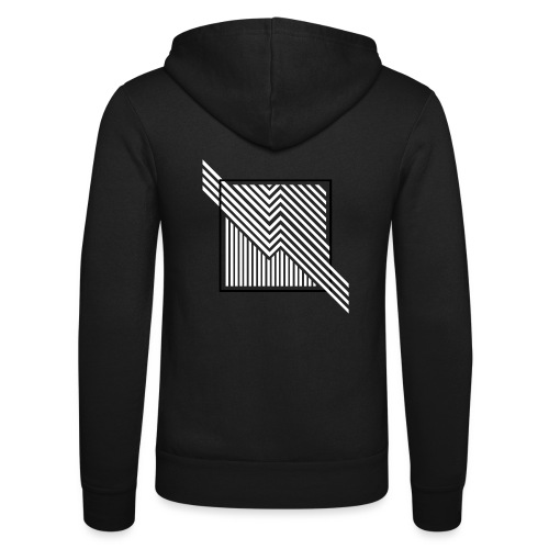 Lines in the dark - Unisex Hooded Jacket by Bella + Canvas