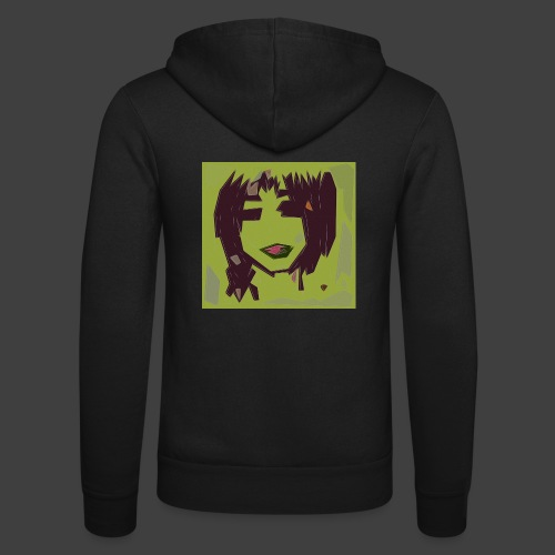 Green brown girl - Unisex Hooded Jacket by Bella + Canvas