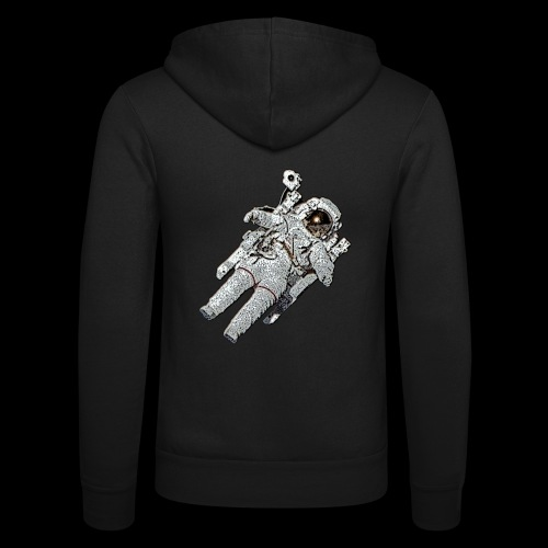Small Astronaut - Unisex Hooded Jacket by Bella + Canvas