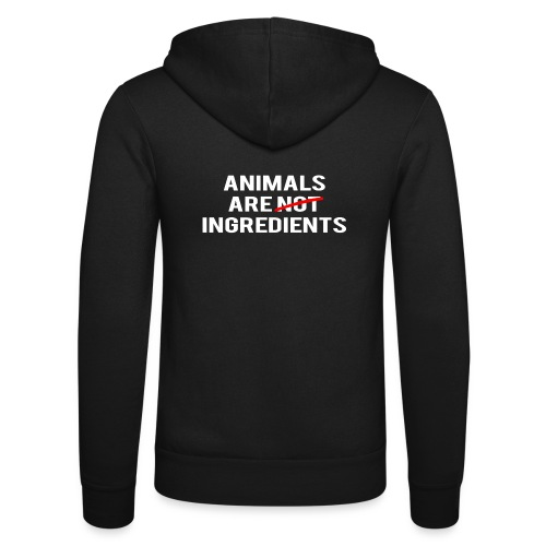 Animals Are Ingredients - Unisex Hooded Jacket by Bella + Canvas