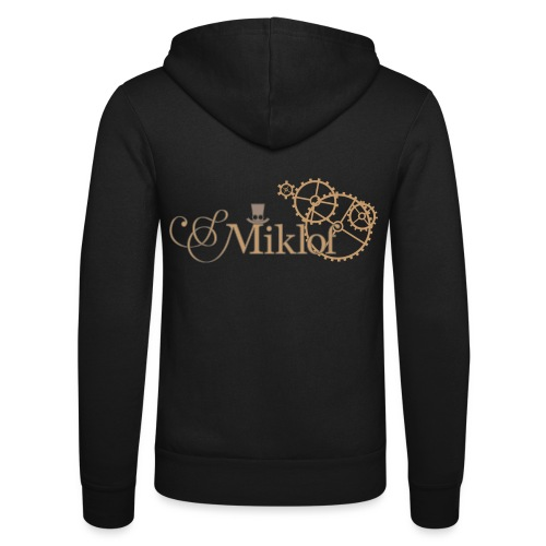 miklof logo gold outlined 3000px - Unisex Hooded Jacket by Bella + Canvas