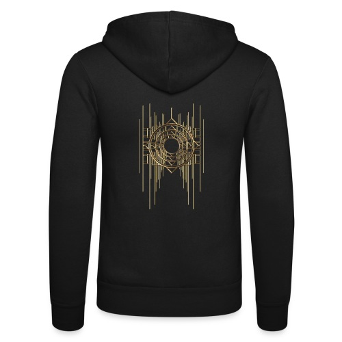 Abstract Geometry Gold Metal Art Deco Vintage - Unisex Hooded Jacket by Bella + Canvas
