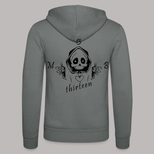 MB13 - Skull - Unisex Hooded Jacket by Bella + Canvas