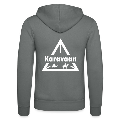 Karavaan White (High Res) - Unisex hoodie van Bella + Canvas