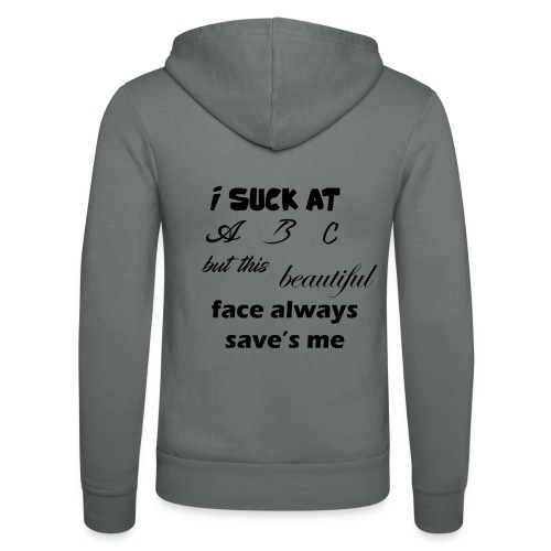 I Suck At ABC - Unisex hoodie van Bella + Canvas