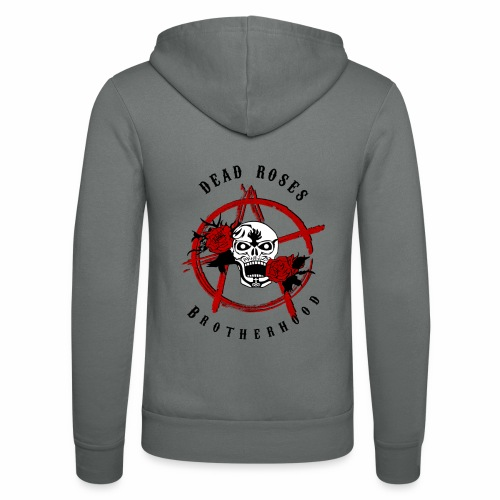Dead Roses Anarchy Skull Black - Unisex Hooded Jacket by Bella + Canvas