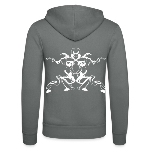Rorschach test of a Shaolin figure Tigerstyle - Unisex Hooded Jacket by Bella + Canvas