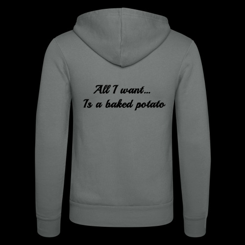 Baked potato - Unisex Hooded Jacket by Bella + Canvas