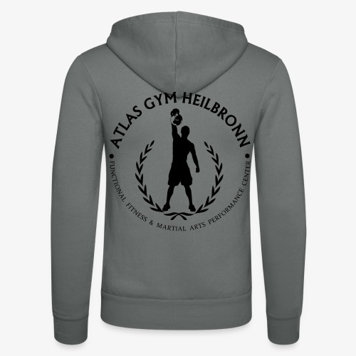 Atlas Gym Alternativ Logo Black - Unisex Kapuzenjacke von Bella + Canvas