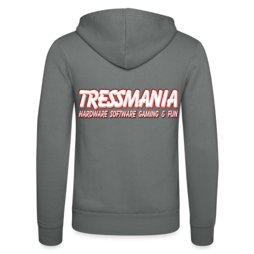 Tres Mania Logo - Unisex Hooded Jacket by Bella + Canvas