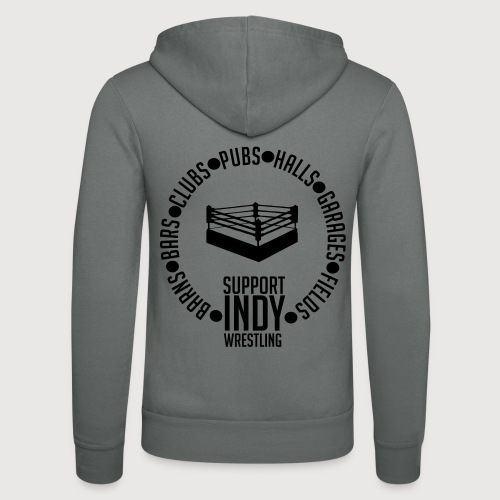 Support Indy Wrestling Anywhere - Unisex Hooded Jacket by Bella + Canvas