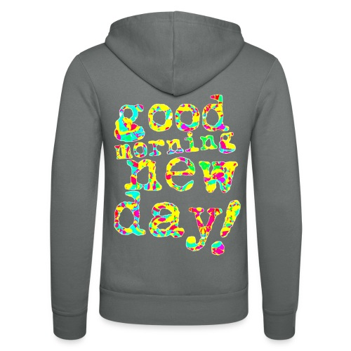 good morning new day yellow and red - Unisex hoodie van Bella + Canvas