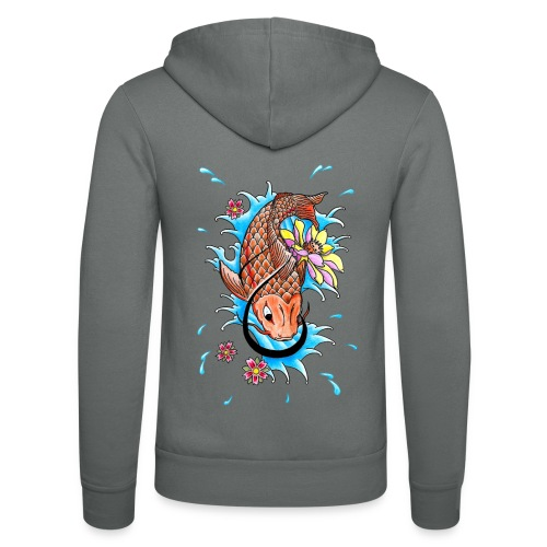 Koi Fish - Unisex Hooded Jacket by Bella + Canvas