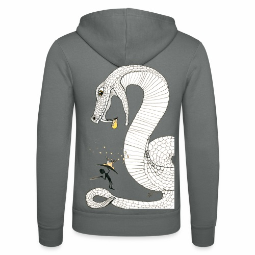 Poison - Fight against a giant poisonous snake - Unisex Hooded Jacket by Bella + Canvas