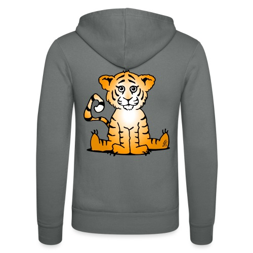 Tiger cub - Unisex Hooded Jacket by Bella + Canvas