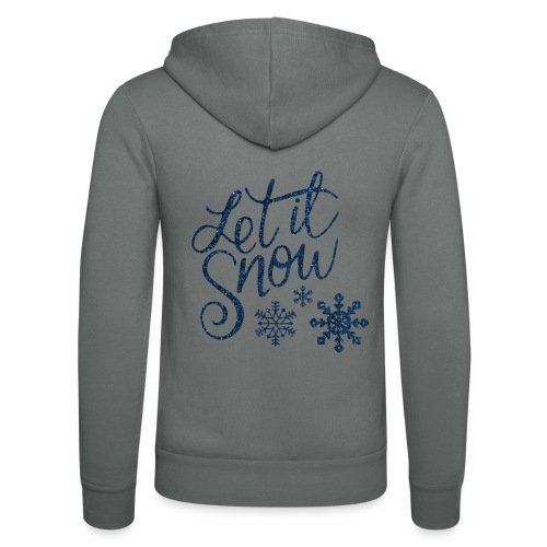 Let il snow Noël New shape fane design vintage - Veste à capuche unisexe Bella + Canvas